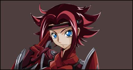 blue_eyes code_geass desktop gloves headband jumpsuit kallen redhead // 2000x1053 // 774.1KB