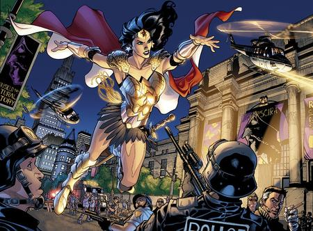 brunette cape dc greaves helicopter police skirt terry_dodson wonder_woman // 891x658 // 267.1KB