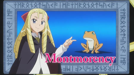 blonde blue_eyes frog long_hair montmorency screenshot zero_no_tsukaima // 1280x720 // 127.4KB