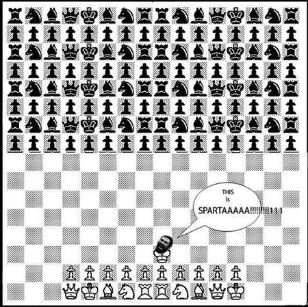 bw chess humor sparta // 700x699 // 231.9KB