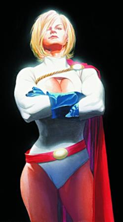 blonde cape cleavage dc globes oppai power_girl // 200x361 // 99.7KB