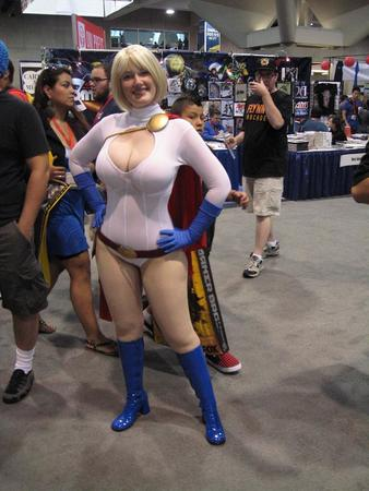 blonde boots cape cleavage convention cosplay dc gloves power_girl // 720x960 // 115.4KB