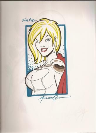 amanda_conner blonde blue_eyes cape cleavage sketch wink // 582x800 // 247.6KB
