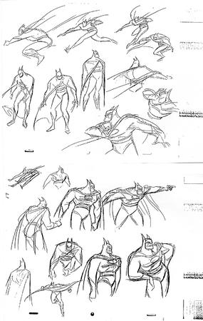 batman bruce_timm bw cape cowl dc how-to-draw sketch // 1053x1663 // 486.2KB