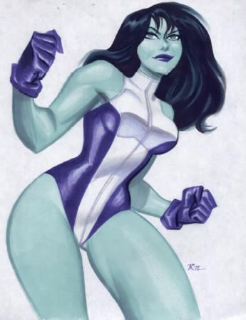 bruce_timm gloves green_eyes marvel she-hulk // 684x892 // 60.8KB