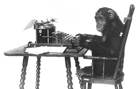 bw monkey typewriter // 600x385 // 26.8KB