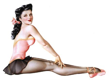 ballerina brunette pinup skirt toe-shoes // 934x686 // 78.0KB
