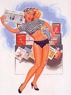 blonde high_heels newspaper pinup rippen_clothes // 446x600 // 68.9KB