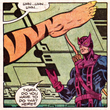 avengers hawkeye humor marvel out_of_context tigra // 453x456 // 128.6KB