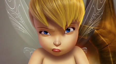 bare_shoulder blonde blue_eyes cg fairy screenshot tinkerbell wings // 720x400 // 48.0KB