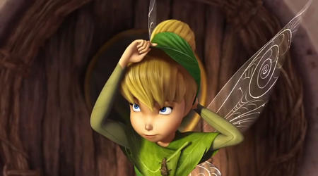 blonde blue_eyes cg disney fairy hat screenshot tinkerbell wings // 720x400 // 48.0KB