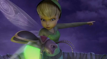blonde blue_eyes cg disney fairy firefly hat screenshot tinkerbell wings // 720x400 // 34.1KB