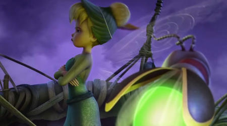 blonde blue_eyes cg disney fairy firefly hat screenshot tinkerbell wings // 720x400 // 42.5KB