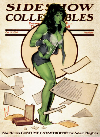 adam_hughes barefoot bra briefcase brunette cleavage marvel ripped_clothes she-hulk short_skirt skirt vest // 634x864 // 606.1KB