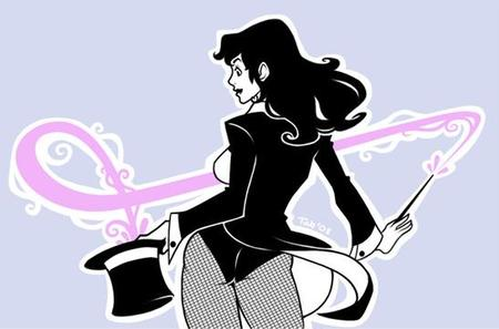 brunette dc fishnet hat jacket tophat wand zatanna // 547x361 // 25.5KB
