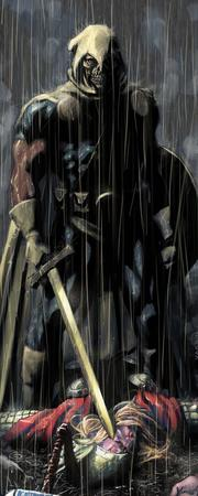 blonde cape helmet marvel rain shield sword taskmaster thor // 518x1292 // 171.9KB