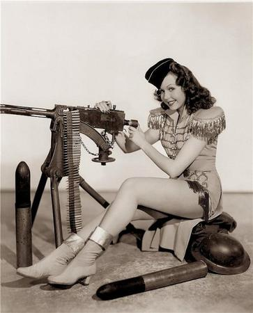 boots brunette bw gun machinegun pinup // 521x645 // 60.6KB
