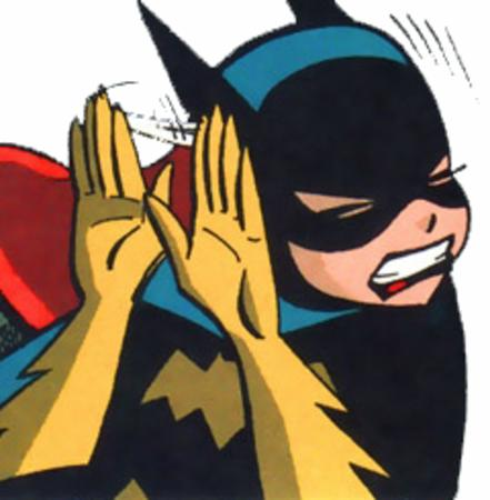batgirl cowl dc gloves reaction // 240x245 // 87.5KB