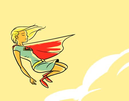 blonde boots cape dc sketch skirt supergirl // 500x391 // 24.4KB