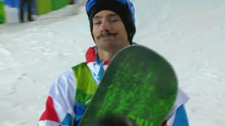 france goggles mathieu_crepel musache olympics reaction snowboard vancouver // 635x356 // 44.0KB