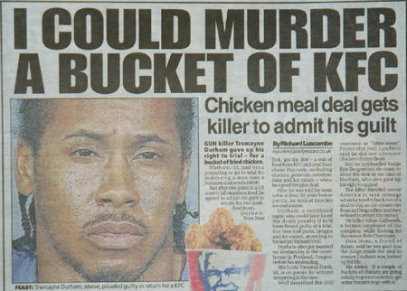 chicken humor kfc newspaper racist // 742x531 // 231.0KB