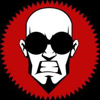 bald beard doctor_steel goggles logo seal // 346x344 // 114.6KB