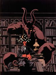 book demon hellboy library suit // 1024x1372 // 178.4KB