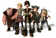 astrid cg fishlegs group hiccup how_to_train_your_dragon ruffnut snotlout tuffnut viking // 1600x1075 // 250.7KB