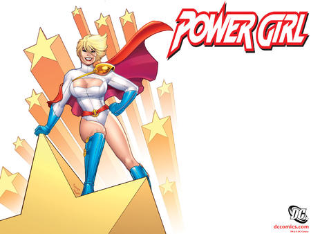 amanda_conner blonde blue_eyes boots cape cleavage dc desktop gloves oppai power_girl // 1600x1200 // 246.6KB