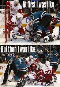 at_first_i_was_like composite hockey home_jersey joe_pavelski macro san_jose sharks // 592x852 // 159.6KB