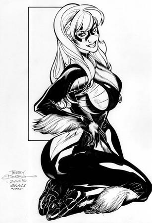 adam_hughes black_cat bw marvel // 819x1200 // 257.2KB