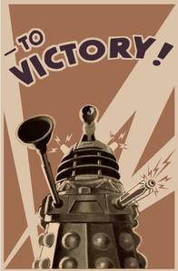dalek doctor_who poster propaganda victory // 399x608 // 41.7KB