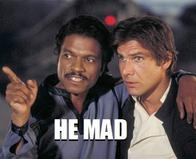billy_dee_williams han_solo harrison_ford lando_calrissian macro star_wars you_mad // 370x300 // 36.4KB