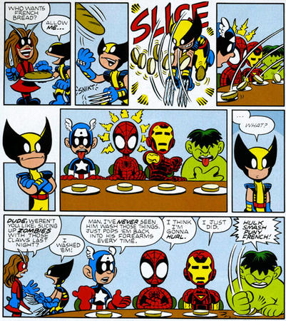 avengers captain_america comic hulk humor iron_man marvel spider-man wasp wolverine // 600x673 // 348.1KB