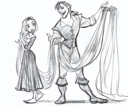 barefoot boots bw disney dress long_hair rapunzel sketch tangled // 720x596 // 83.0KB