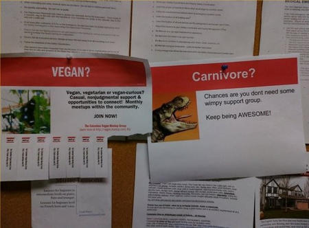 awesome bulletin_board carnivore humor vegan // 597x440 // 63.6KB