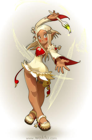 blonde dress eniripsa wakfu wand wings // 635x966 // 77.5KB
