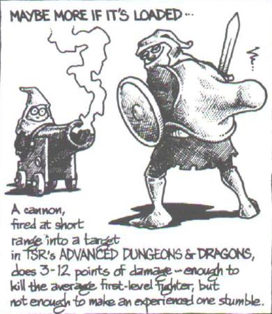 bw cannon dnd fighter humor // 385x444 // 250.8KB
