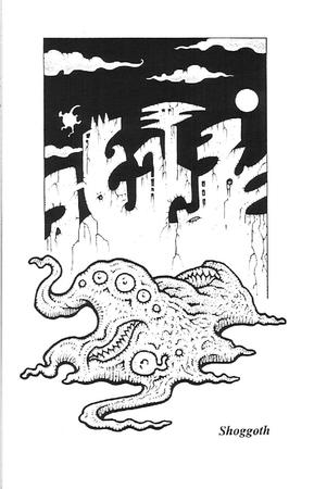 bw coloring_book lovecraft shoggoth // 1072x1669 // 184.1KB