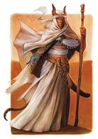 dark_sun dnd horns robe staff tail tiefling // 640x908 // 105.2KB