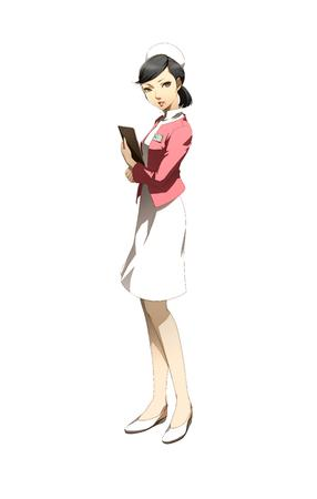 brunette clipboard dress hat jacket nurse persona // 3500x5500 // 1017.1KB