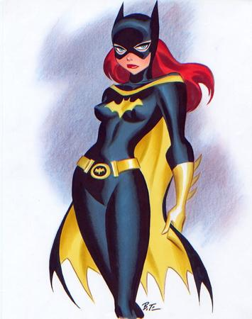 batgirl blue_eyes bruce_timm cape cowl dc gloves redhead // 610x773 // 236.8KB