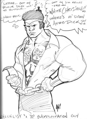 adam_hughes afro bw headband luke_cage power_man sketch // 360x492 // 115.1KB
