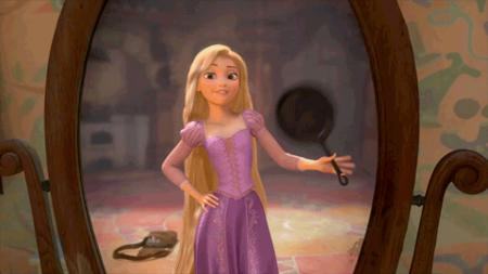 animated blonde disney dress frying_pan long_hair rapunzel tangled // 480x270 // 504.9KB