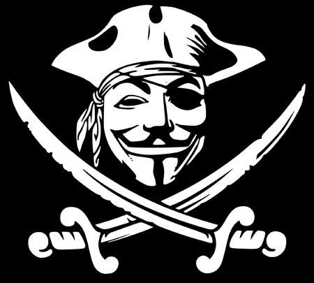 bw eyepatch guy_fawkes hat mask pirate sword // 2362x2128 // 174.4KB