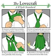 cthulhu instructions necktie // 600x655 // 65.1KB