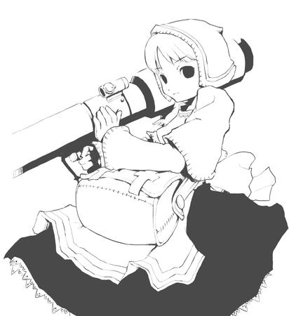 apron bazooka bonnet bw chemist dress ffxi final_fantasy // 999x1091 // 52.7KB