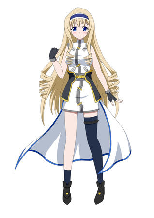 blonde blue_eyes boots celia_orcott dress gloves infinite_stratos long_hair thighhighs // 849x1200 // 259.8KB