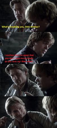 composite humor jaime_lannister screenshot song_of_ice_and_fire tyrion_lannister // 609x1365 // 223.4KB