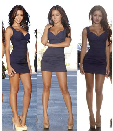 brunette cleavage composite dress high_heels photo // 439x506 // 264.3KB